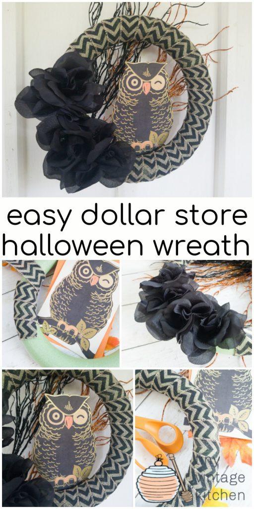 Dollar Tree Halloween Wreath