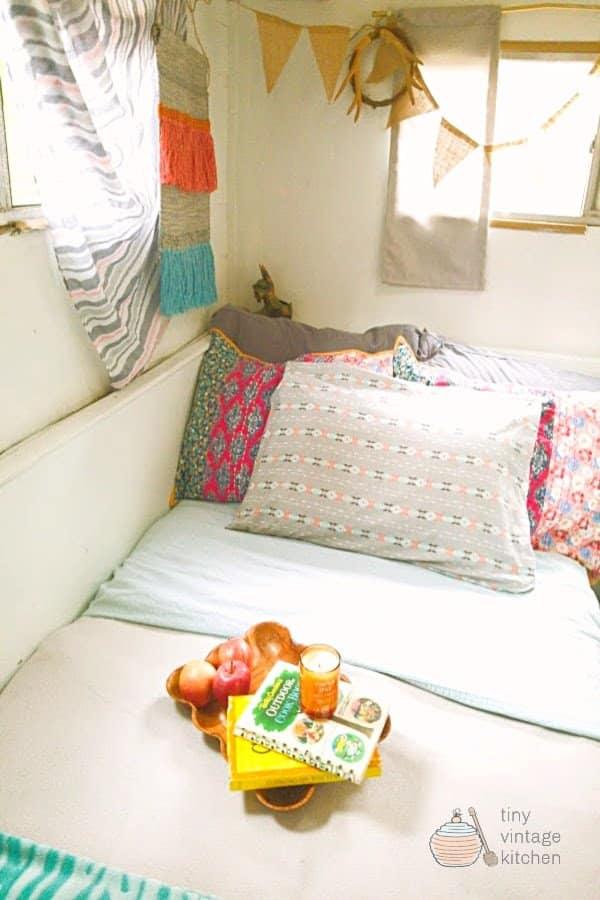 Vintage Camper Sleeping Area