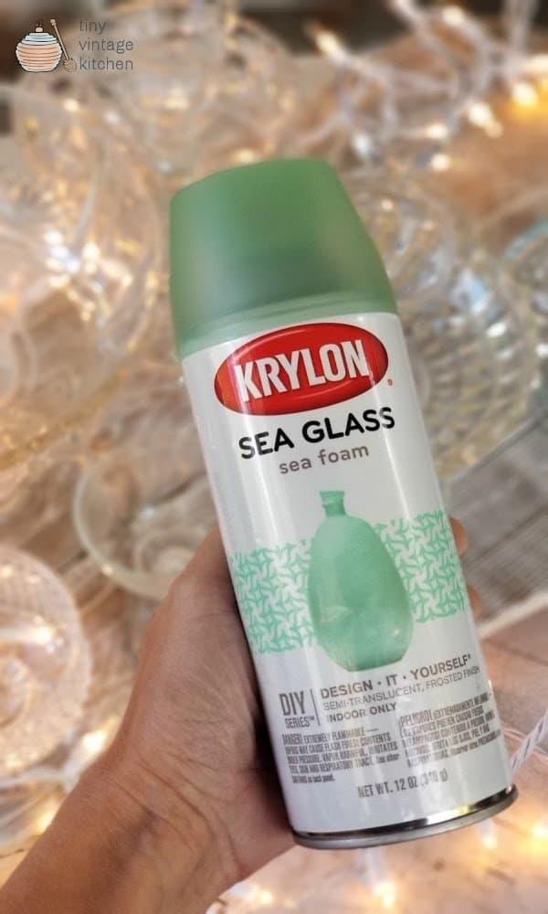 Using Sea Glass Spray Paint