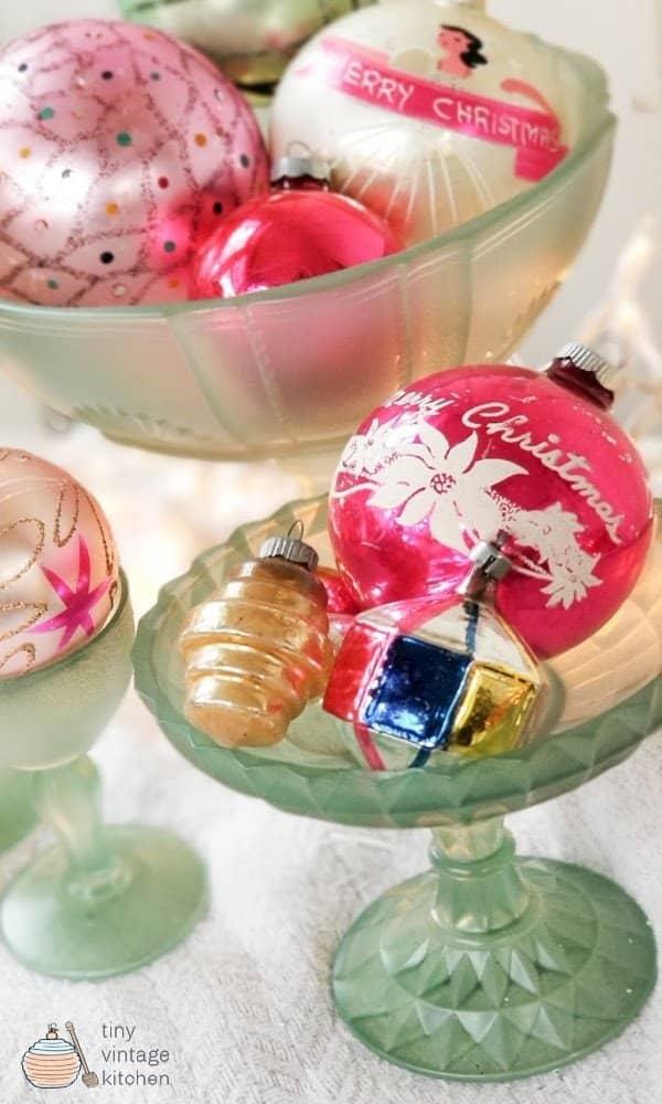 Ways to Display Vintage Ornaments