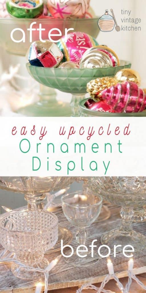 Vintage DIY Ornament Display Stands