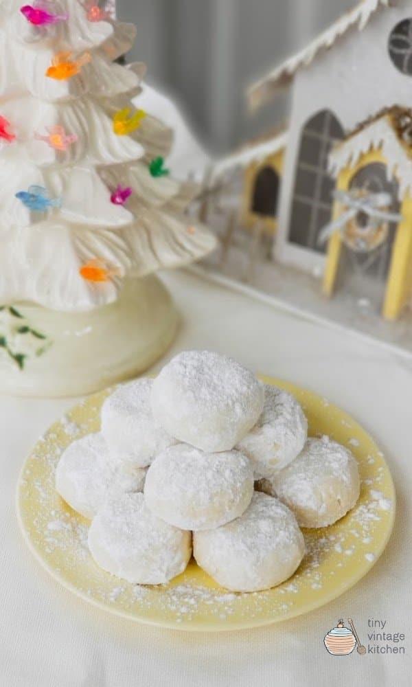 Homemade Lemon Snowdrop Cookies