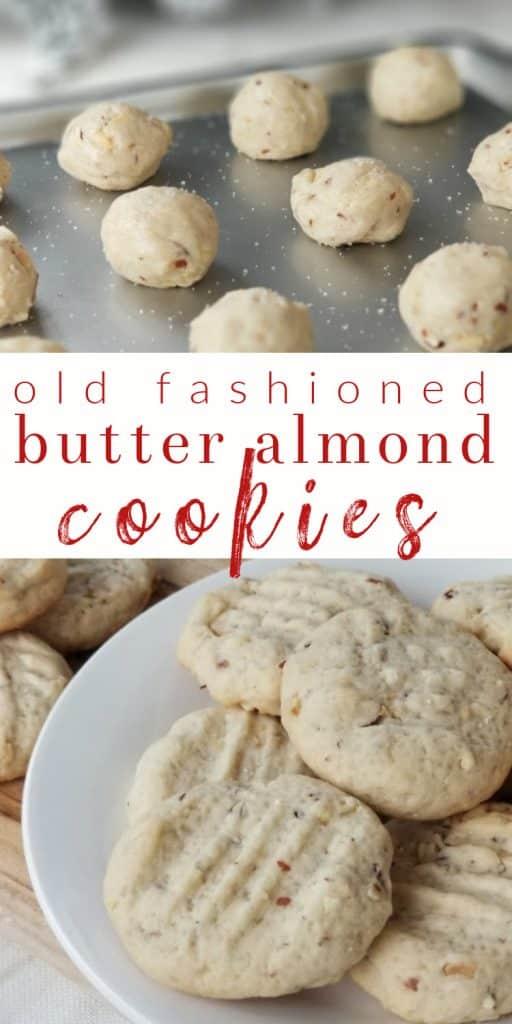 Butter Almond Cookie Recipe